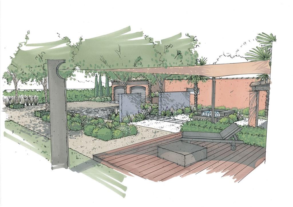 Conception et r alisation d un jardin m diterran en contemporain aix en provence architectes - Recuperar jardin aixen provence ...