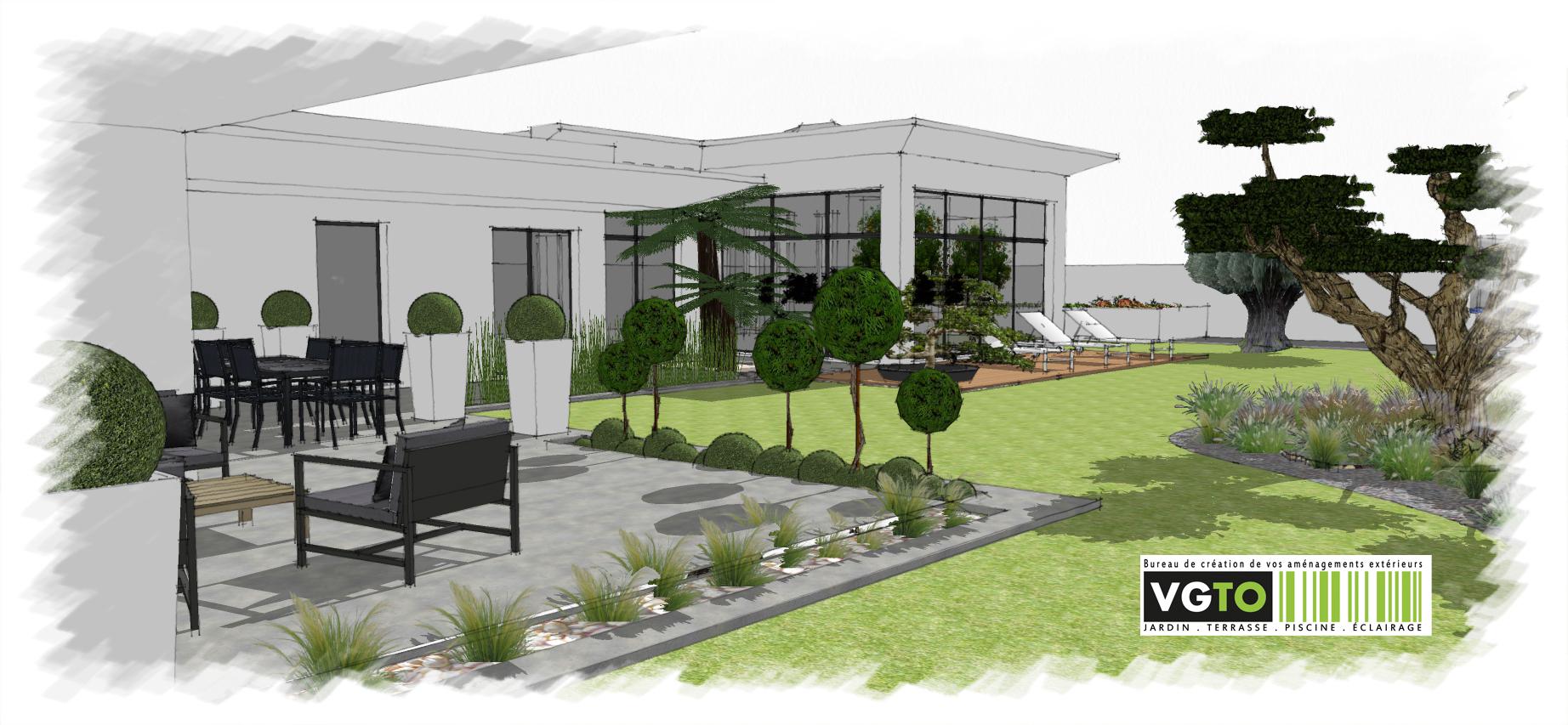 Actualit architectes paysagistes valea concept for Jardin villa contemporaine