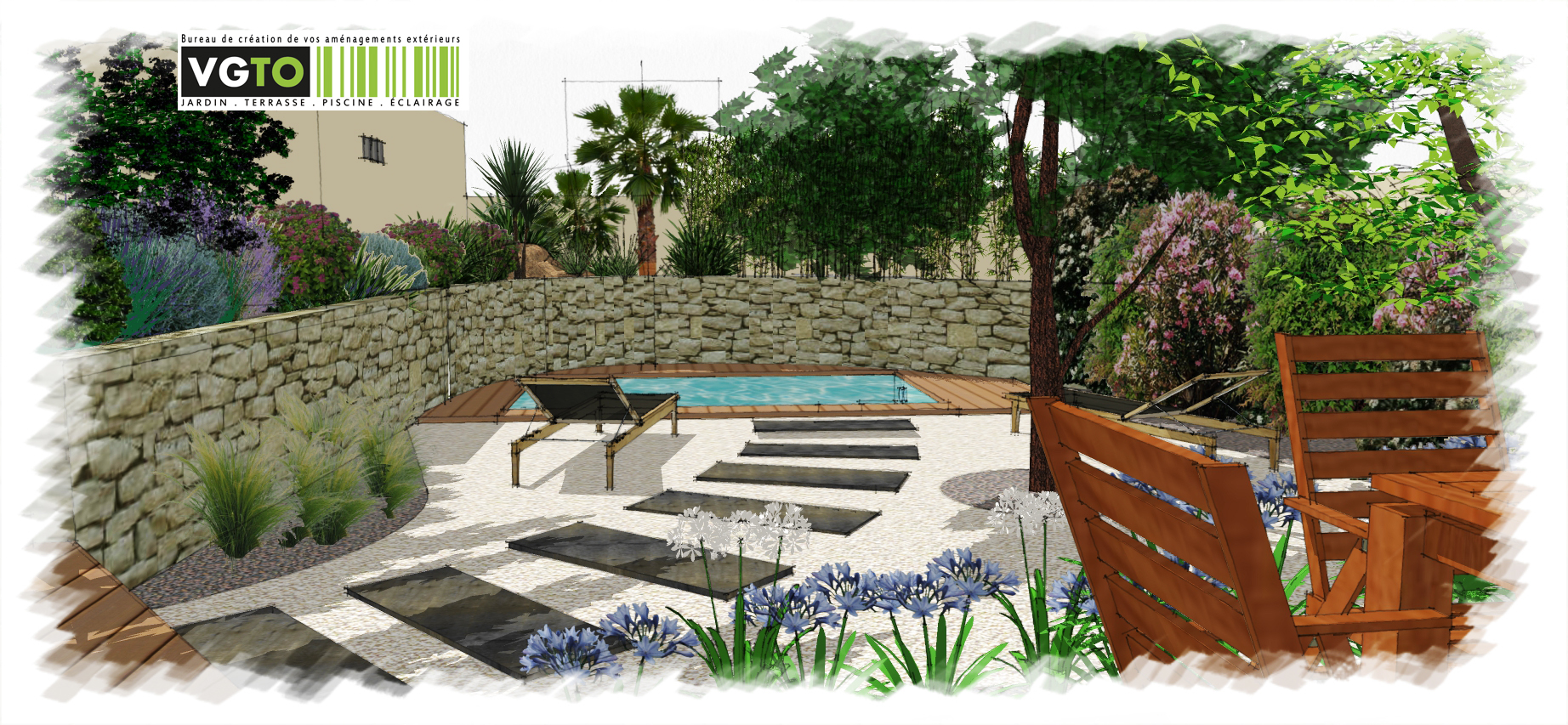Actualit architectes paysagistes valea concept - Amenagement piscine contemporaine marseille ...
